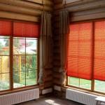 шторы плиссе красные