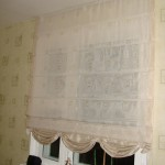 римская штора в светлых тонах