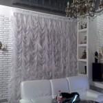 шторы для гостиной -белый занавес- 1