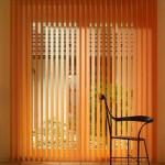 вертикальные оранжевые жалюзи -12