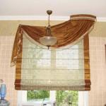 римская штора для кухни