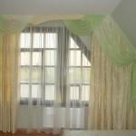 шторы в спальню - 3 в салатовой гамме