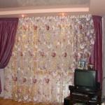 шторы для гостиной -цветы-16
