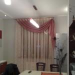 шторы для кухни в розовых тонах - 1