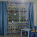 шторы для теской - синие -2