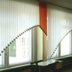 вертикальные жалюзи в школу, белый-оранжевый - 3