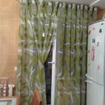 шторы для кухни- зеленые кольца - 2