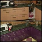 кухня до и после ремонта мебели