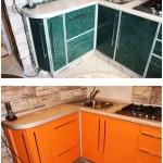 кухня до и после замены фасадов