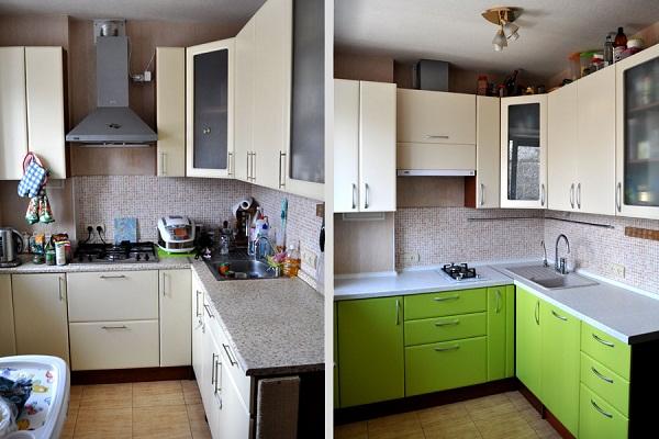 Реставрация фасадов кухни своими руками 36