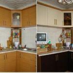 ремонт мебели на кухне - до и после