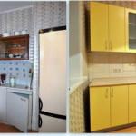 замена кухонных фасадов и столешниц