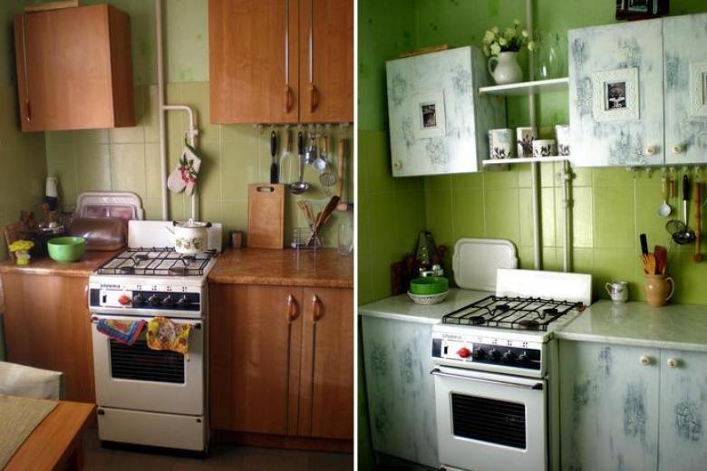 Ремонт кухонных фасадов - Реставрация кухонной мебели