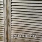 жалюзийный шкаф с эффектом состаривания (браширования)